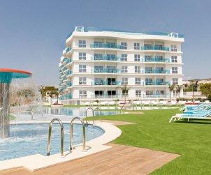 Appartement à Alcossebre pour 5 personnes dans complexe hôtelier avec piscine commune et vue latérale mer p2