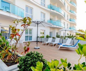 Appartement à Alcossebre pour 5 personnes dans complexe hôtelier avec piscine commune, grande terrasse en front de mer p0
