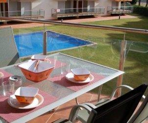 Appartement   à Rosas pour 6 personnes avec piscine commune et climatisation p0